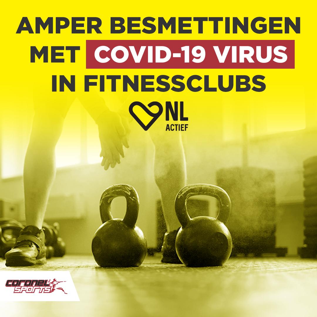 Amper besmettingen met COVID-19 virus in fitnessclubs