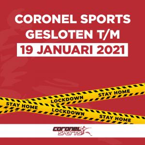 Gesloten | Lockdown | Coronel Sports Huizen